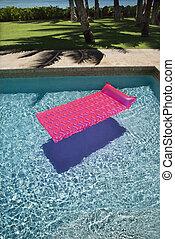 flutuador, pool., natação