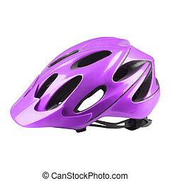 fluweel, fietsen helm, op wit, achtergrond