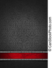 fluweel, luxe, achtergrond, floral, zilver, rood