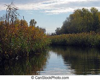 flux at autumn near Dnieper