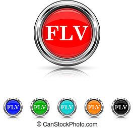 FLV icon - six colours set