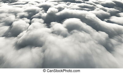 fly above clouds 4k