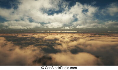 fly above clouds