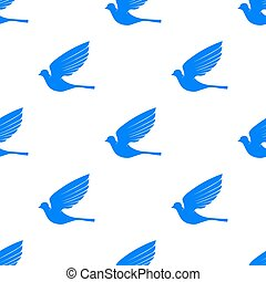 Fly Dove Seamless Pattern