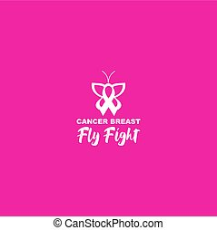 fly fight breast cancer awareness design