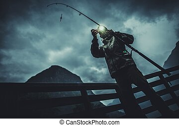 Fly Fishing at Night
