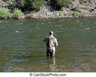 Fly fishing on the Bitterroot River in Montana