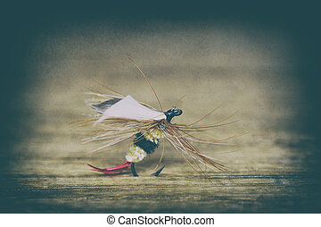Fly fishing lure retro style