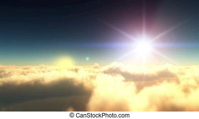 fly heaven sky sunset