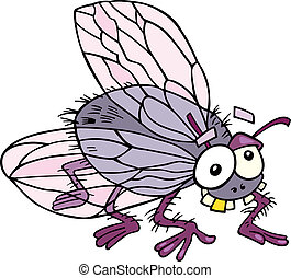 Fly - Illustration of funny fly