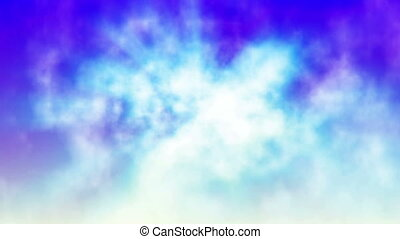 fly in clouds color abstract