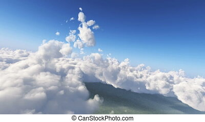 fly in clouds