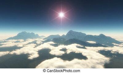 fly in mountain 4k