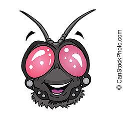 fly insect head Cartoon