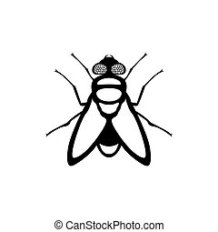 fly insect sign vector icon