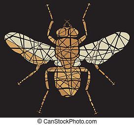 Fly mosaic
