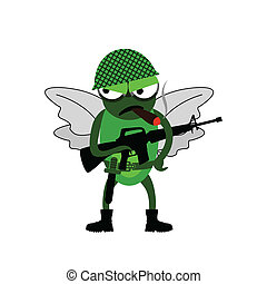 Fly of soldiers