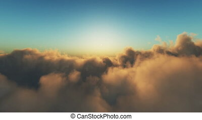fly over clouds 4k