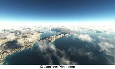 fly over island