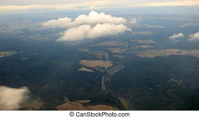Fly over landscape timelapse