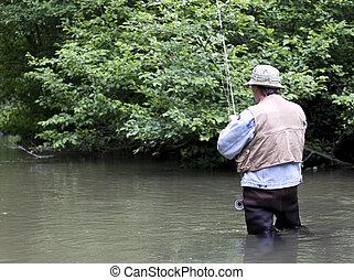fly rod fishing