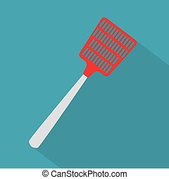 fly swatter icon- vector illustration