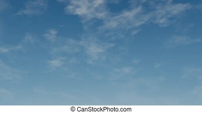 Fly through clouds. - Computer graphic animation of clouds...