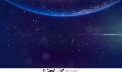 Fly through Galaxy. Space background - Space Nebula 6