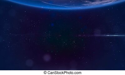 Fly through Galaxy. Space background - Space Nebula 7