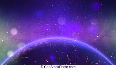 Fly through Galaxy. Space background - Space Nebula 8
