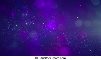 Star cluster and plasma in outer space - Fly through Galaxy....