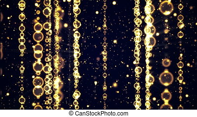 fly through golden christmas beads - fly through golden...