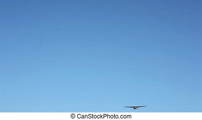 Flyby of an airplane