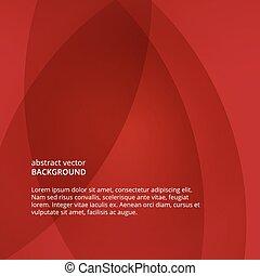flyer., ベクトル, 抽象的, 背景, 赤