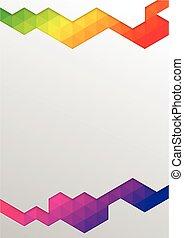 flyer., ベクトル, 現代, 抽象的