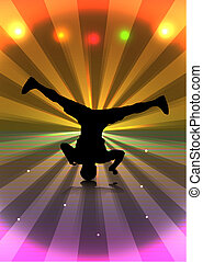 Flyer 1 - Breakdancer Spin - An abstract vector illustration...