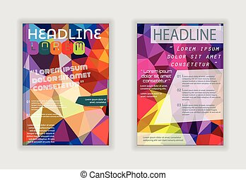 Flyer abstract design. Brochure cover, poster, banner, booklet vector template.