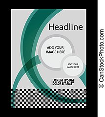flyer background vector illustratio