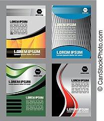 Flyer brochure design set