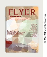 Flyer, Brochure Design Template, Geometric