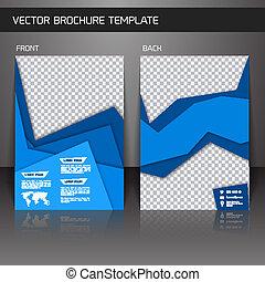 Blue abstract business corporate design brochure flyer design template vector illustration