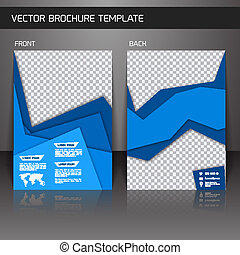 Flyer brochure template - Blue abstract business corporate...