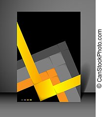flyer design background with squares