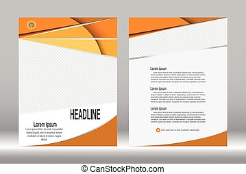 Flyer design, Brochure template abstract vector background.