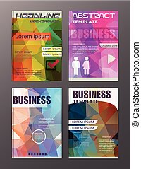 flyer design business and technology  icons, creative template design for presentation, poster, cover, booklet, banner.