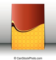Clean abstract vector flyer. Brochure