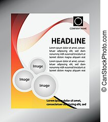 flyer design content background