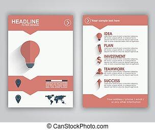 Flyer design for advertising