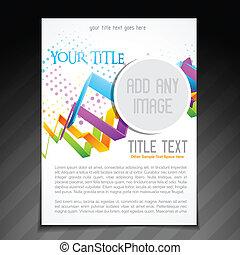 flyer design - vector flyer brochure template design