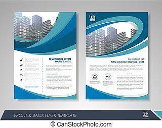 Flyer design layout